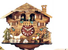 Click here for Cuckoo Clocks & Weatherhouses