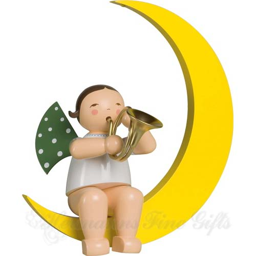 Angel with French Horn, in Moon, Large