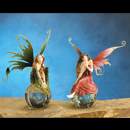 FAIRY ON CRYSTAL BALL (SET OF 2)