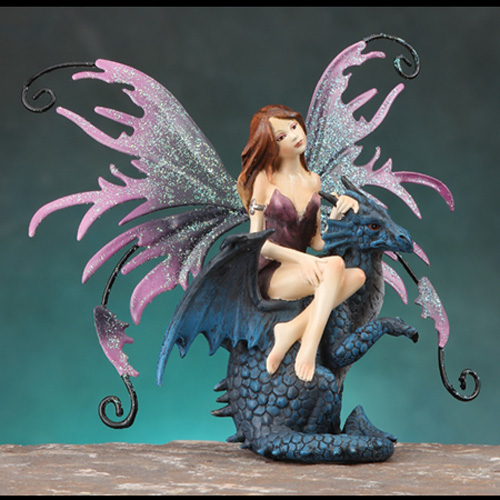 FAIRY RIDING BLUE DRAGON- SMALL