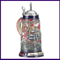 Firefighter and Police Steins