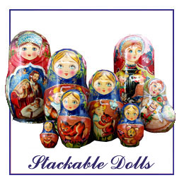 Russian Hand Painted Stackable Dolls